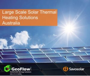 Large Scale Solar Thermal energy supply at lowest energy cost